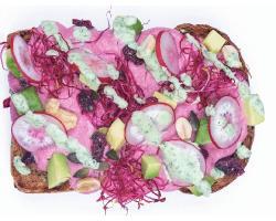 Pinky Toast, la receta de moda