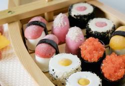 ¿Sushi? No... helado!