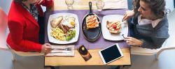 Teléfono movil en la mesa..., ¿a la derecha o a la izquierda del plato?