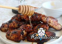 Alitas de pollo glaseadas al horno