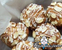 Muffins de chocolate blanco