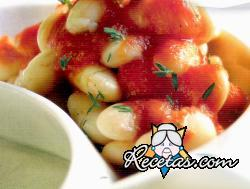 Alubias blancas en salsa de tomate
