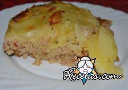 Atún al horno con patatas