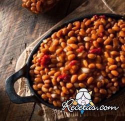 Baked beans (frijoles horneados)