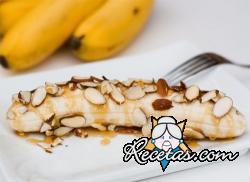 Bananas fritas con miel