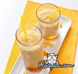 Batido de mango y miel