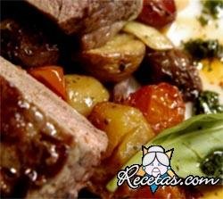 Bife angosto con verduras