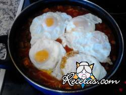 Calabacines con huevo