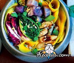 Calabaza marinada y verduras asadas