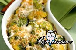 Cazuela de broccoli y azafrán