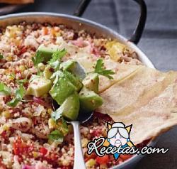 Cazuela de quinua y verduras a la mejicana