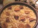 Cazuela de porotos y arroz