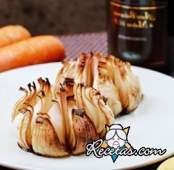 Cebollas caramelizadas al horno