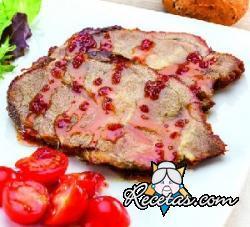 Cerdo asado con salsa picante