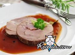 Cerdo estofado con salsa picante