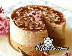 Cheesecake al café y chocolate