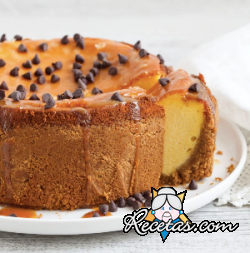 Cheesecake con caramelo salado