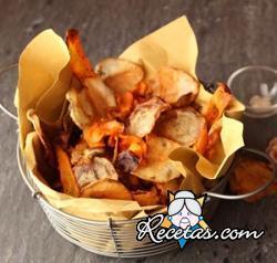 Chips de vegetales al horno