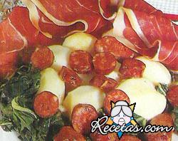 Chorizo con grelos