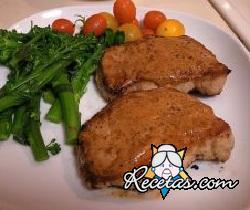 Chuletas de cerdo marinadas