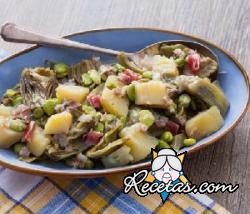 Guisado de verduras: ciaudedda