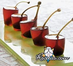 Cóctel Negroni en gelatina