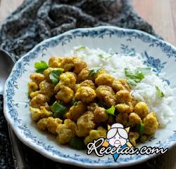 Coliflor al curry