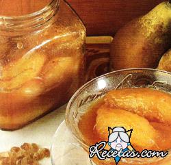 Conserva de peras con miel