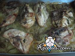 Cuartos de pollo a las hierbas provenzales
