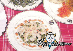 Ensalada de pasta y langostinos