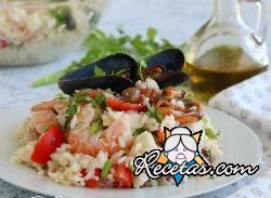 Ensalada de arroz con pescado