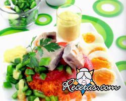 Ensalada de atún y pimiento verde