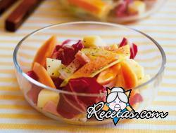 Ensalada de papaya y fontina