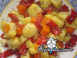 Ensalada de patatas con zanahoria