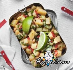 Ensalada de patatas especiada