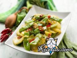 Ensalada de patatas y judías verdes (ejotes)