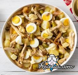Ensalada de pollo y patatas
