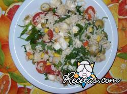 Ensalada vegana de arroz