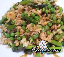 Ensalada verde de arroz integral