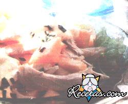 Ensalada de ave y melón