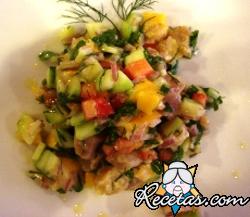 Ensalada de mango  y uvas