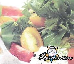 Ensalada con tomatitos bicolores