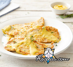 Escalopes de ternera con mostaza