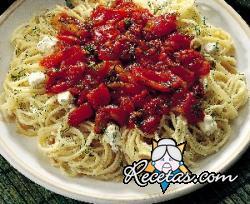 Espaguetis con ricota picantes