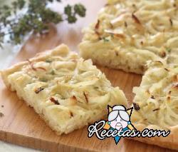 Focaccia con cebollas