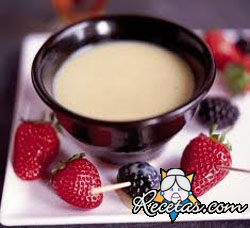 Fondue de chocolate blanco