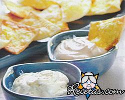 Galletitas de queso y dips