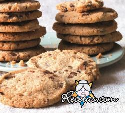 Galletas de manteca y chocolate