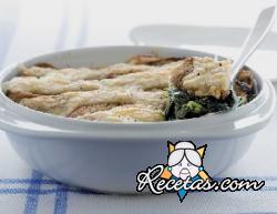 Gratin de espinacas al fontina