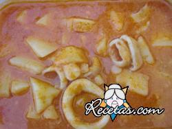 Guiso de patatas con choco